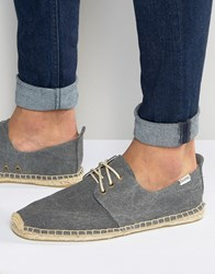 Soludos Lace Up Espadrilles Grey