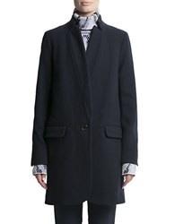 Pink Tartan Button Front Wool Jacket