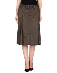 Ajay Skirts Knee Length Skirts Women Dark Brown