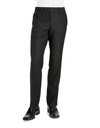 Black Brown Jack Slim Woven Flat Front Dress Pants Black