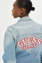 Guess Oversized Denim Logo Jacket By Jeans Blue