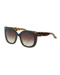Barton Perreira Olina Chunky Cat Eye Sunglasses Black Tortoise Smoky Topaz Black Red