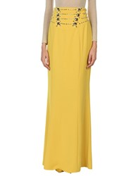 Versace Collection Long Skirts Yellow