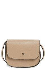 Amici Accessories Mini Crossbody Saddle Bag Beige Light Tan