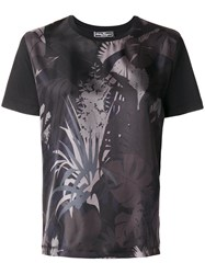 Salvatore Ferragamo Printed Satin Twill T Shirt Women Silk Cotton M Black