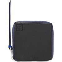 Loewe Black Rainbow Square Zip Wallet