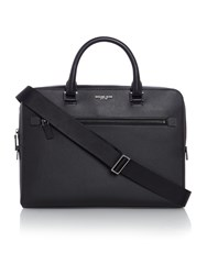 Michael Kors Harrison Zip Top Saffiano Leather Briefcase Black