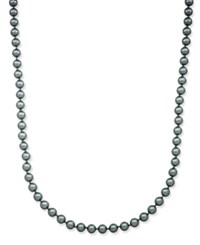Charter Club Silver Tone Long Gray Imitation Pearl Strand Necklace Only At Macy's Grey