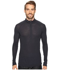 Icebreaker Everyday Long Sleeve Half Zip Stealth Men's Clothing Gray