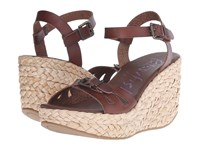 Blowfish Drive In Whiskey Dyecut Straw Rope Wedge Women's Wedge Shoes Brown