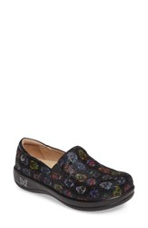 Alegria Women's 'Keli' Embossed Clog Sugar Skulls Dottie Leather