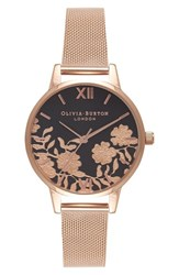 Olivia Burton Women's Lace Detail Mesh Bracelet Watch 30Mm