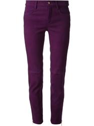 Emilio Pucci Skinny Trousers Pink And Purple