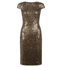 Hobbs Portia Dress Gold