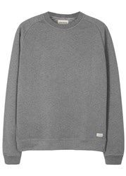 Oliver Spencer Saddle Grey Cotton Sweatshirt