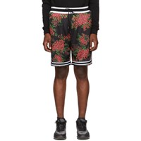 John Elliott Black Bougainvillea Game Shorts