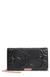 Ted Baker London Ciliaa Quilted Bow Leather Clutch Black