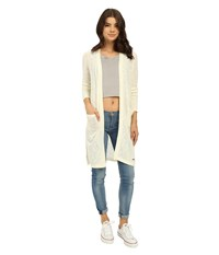 Roxy Love And Luck Cardigan Sand Piper Women's Sweater White