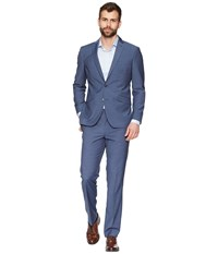Kenneth Cole Reaction Textured 32 Finished Bottom Suit Blue Suits Sets