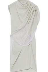 Rick Owens Woman Draped Stretch Shell Top Stone