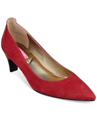 Isaac Mizrahi New York Mara Pumps Women's Shoes Red Suede