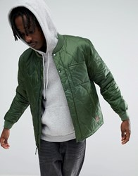 Brixton Crawford Quilted Jacket In Relaxed Fit Green