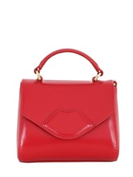 Lulu Guinness Mini Izzy Polished Leather Shoulder Bag