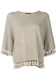 Antonelli Tassel Detail Jumper Brown