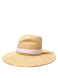 Lola Hats First Aid Raffia Wide Brim Hat Light Tan