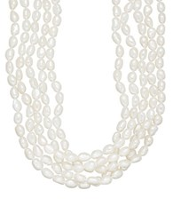 Lord And Taylor 5 17.75Mm Five Strand White Freshwater Pearl Necklace