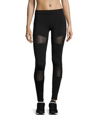 Solow Mesh Inset Leggings Black