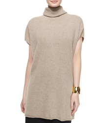 Eileen Fisher Short Sleeve Cashmere Turtleneck Sweater Petite