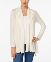 Styleandco. Style Co. Mixed Media Open Front Cardigan Only At Macy's Warm Ivory