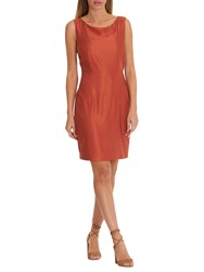 Betty And Co. Satin Shift Dress Etruscan Red