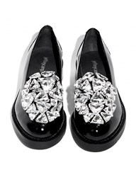 Pixie Market Jeffrey Campbell Ledger Diamond Loafers