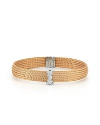 Alor Classique Multi Row Bangle W White Diamond Pave Yellow