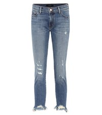 J Brand Sadey Low Rise Cropped Jeans Blue