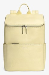 Matt And Nat 'Brave' Vegan Leather Backpack Yellow Lemonade
