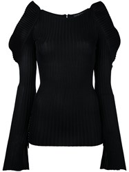 David Koma Round Neck Jumper Black