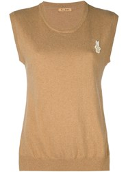 Peter Jensen Rabbit Tank Top Brown