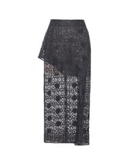 Stella Mccartney Cotton Lace Skirt Blue