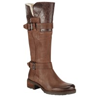 John Lewis Cheadle Buckle Fastening Long Boots Brown Nubuck