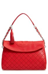 Tory Burch Fleming Leather Foldover Hobo
