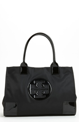 Tory Burch 'Mini Ella' Nylon Tote Black Black