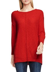 Vince Camuto Crewneck Long Sleeve Sweater Red