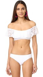 Ella Moss Lover Off Shoulder Bikini Top White