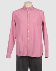 Jaggy Long Sleeve Shirts Light Purple