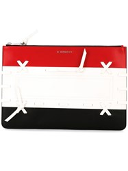 Givenchy Tri Colour Woven Clutch Black
