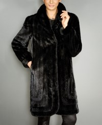 The Fur Vault Shawl Collar Mink Coat Ranch