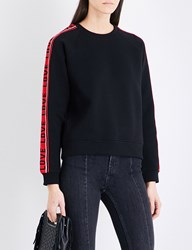 Maje Toska Cotton Blend Sweatshirt Black